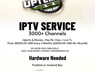 IPTV Service Available in Jamaica – 3000 plus channels and Movies / Live TV Sports